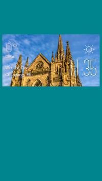Mulhouse weather widget/clock poster