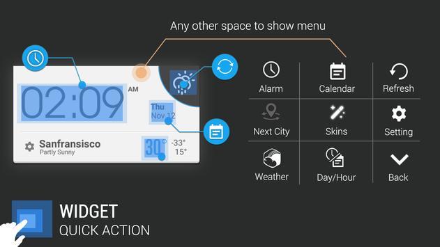 Orleans weather widget/clock apk screenshot