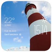 Plymouth weather widget/clock icon