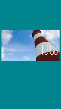 Plymouth weather widget/clock poster