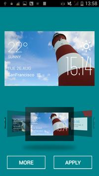 Plymouth weather widget/clock apk screenshot