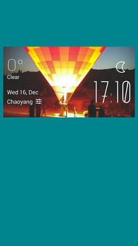 Air Balloon weather widget poster
