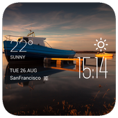 Swansea weather widget/clock icon