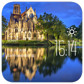 Stuttgart weather widget/clock icon