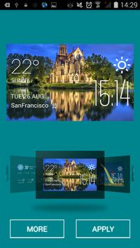 Stuttgart weather widget/clock apk screenshot