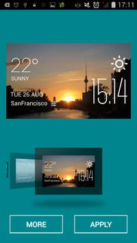 Sunset weather widget/clock apk screenshot