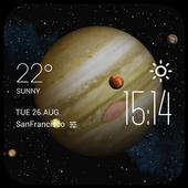 Jupiter weather widget/clock icon
