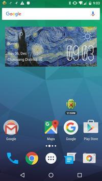 Starry Night Weather Widget poster