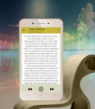 Música Jorge e Mateus Medida Certa apk screenshot