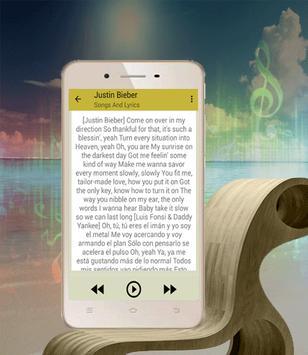 Top MUsic Justin Bieber Despacito Remix apk screenshot