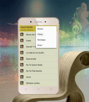 Karol Sevilla de Canciones Sonreír y Amar apk screenshot
