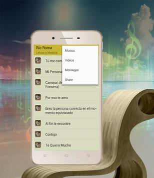Canciones Rio Roma Mi Persona Favorita apk screenshot