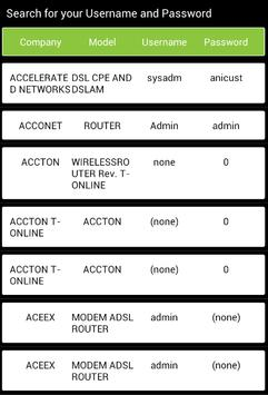 Wifi Router Settings - Admin Password apk screenshot