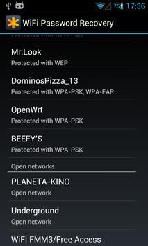 WiFi Passwords Recovery Pro تصوير الشاشة 1