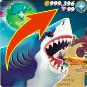 Cheat Hungry Shark World icon