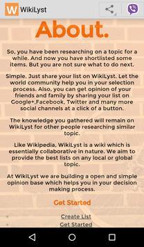 WikiLyst - World's Best Lists apk screenshot
