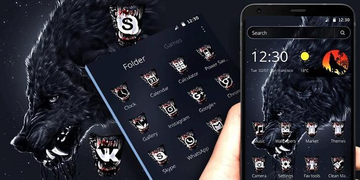 Wild Horror Wolf Theme screenshot 3