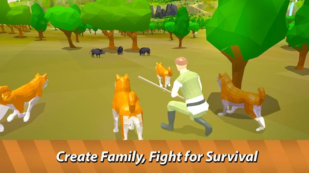 Dog Pack Simulator - survive with dog family! apk screenshot