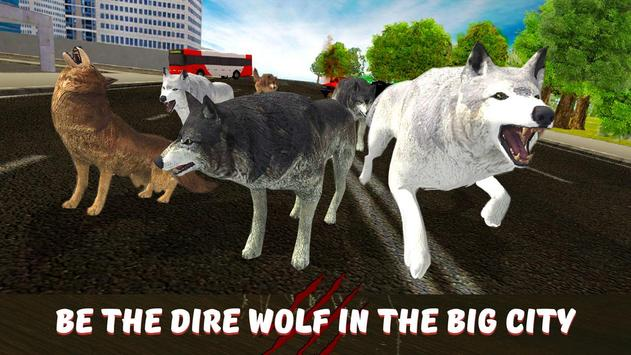 Angry Wolf City Attack Sim poster