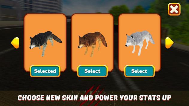 Angry Wolf City Attack Sim apk screenshot