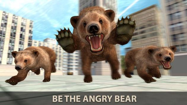 Hungry Bear City Attack Sim 3D poster