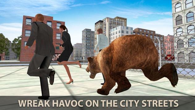 Hungry Bear City Attack Sim 3D screenshot 1