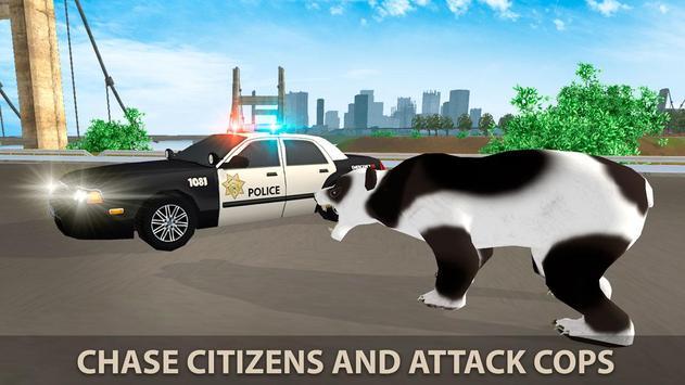 Hungry Bear City Attack Sim 3D screenshot 2