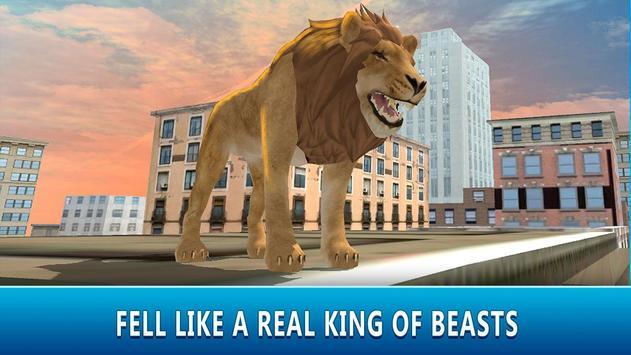 Lion in City: Predator Attack poster
