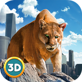 Angry Puma City Attack Sim icon