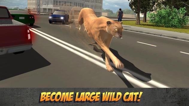 Angry Puma City Attack Sim poster