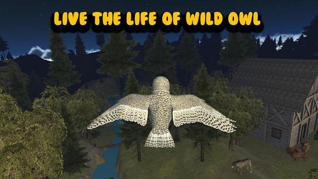 Flying Owl Simulator 3D poster