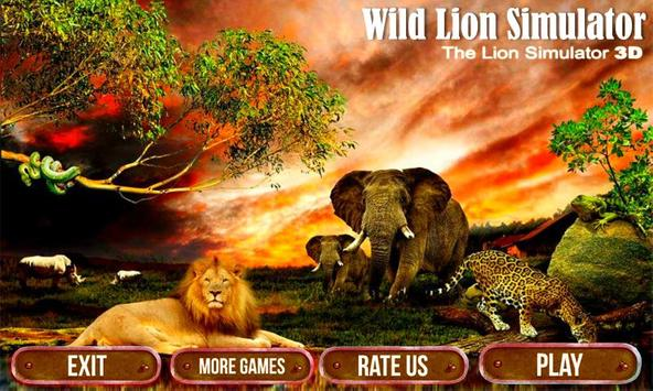 Wild Lion Simulator 3D screenshot 16