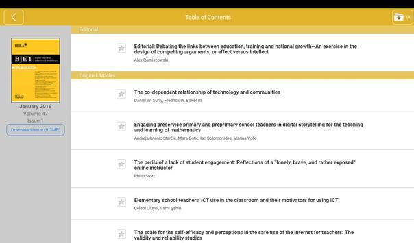 British Jrnl of Edu Technology apk screenshot