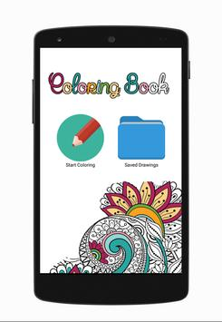 Mandalas & Coloring Pages. Adult Coloring Books. poster
