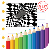 Optical Illusion Coloring Book icon