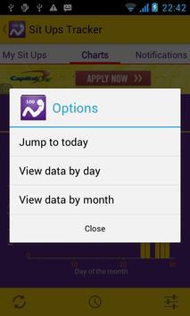 Sit Ups Tracker apk screenshot