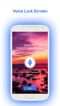 Voice Lock Screen 2018 screenshot 1