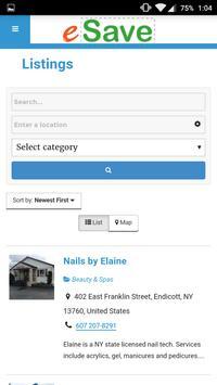 eSave App apk screenshot