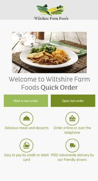 Wiltshire Farm Foods Quick Order poster