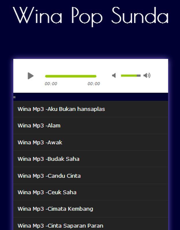Lagu wina pop sunda terlengkap mp3 for android apk download.