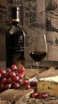 wine bottle wallpaper poster
