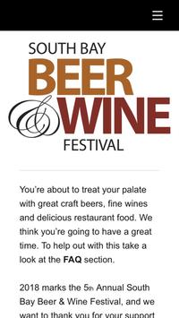 Southbay Beer and Wine Festival poster