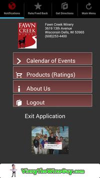 Fawn Creek Winery Mobile App poster