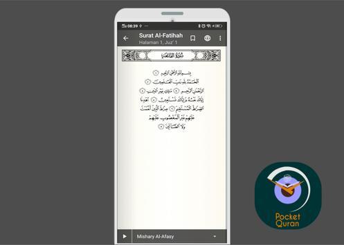 PocketQuran - Alquran Reader App poster