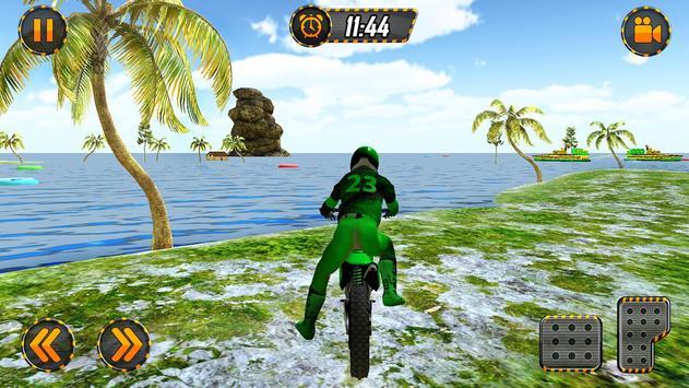 Beach Bike Water Surfing Challenge Racing Game poster
