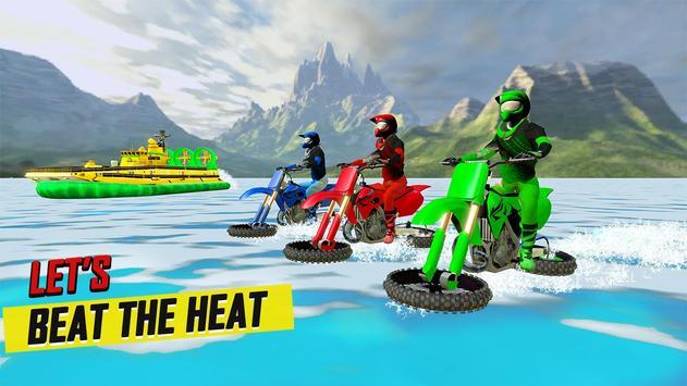 Beach Bike Water Surfing Challenge Racing Game screenshot 2