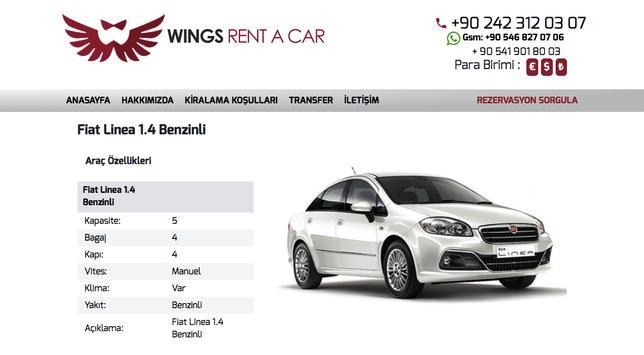 Wings Rent a Car screenshot 3
