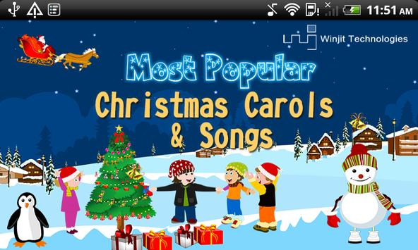 most popular christmas carols poster