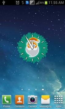 Christmas Widget Clock poster