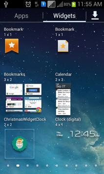 Christmas Widget Clock apk screenshot